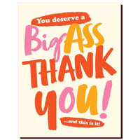 BIG ASS THANK YOU CARD