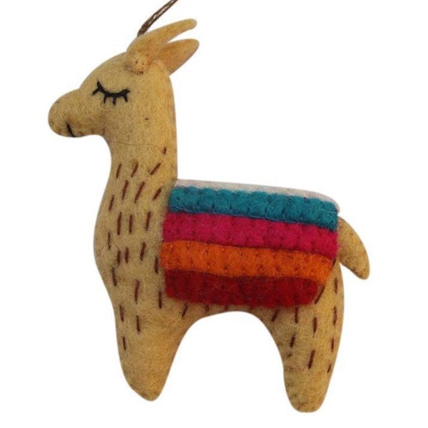 FELT ORNAMENT - FANCY LLAMA