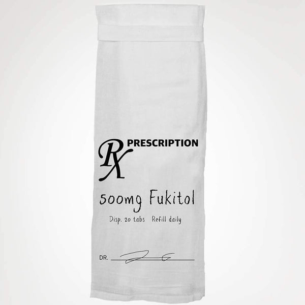 PRESCRIPTION 500mg FUKITOL TEA TOWEL