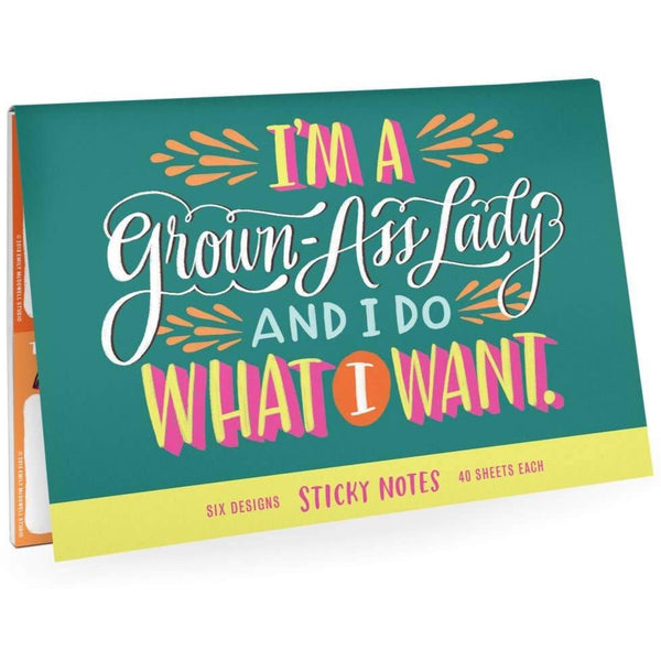 GROWN ASS LADY STICKY NOTE PACKET