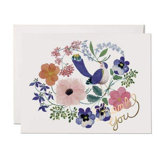 VIOLET BIRDIE THANK YOU CARD