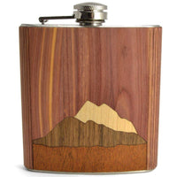 WOOD INLAY FLASK - MOUNTAINS