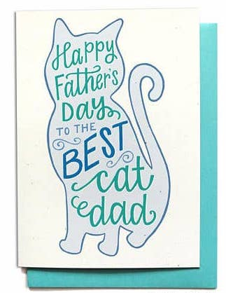 BEST CAT DAD FATHER'S DAY CARD
