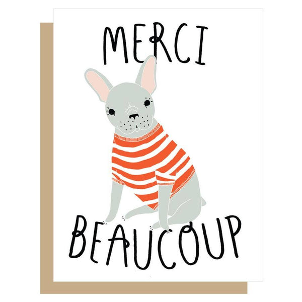 MERCI FRENCHIE THANK YOU CARD