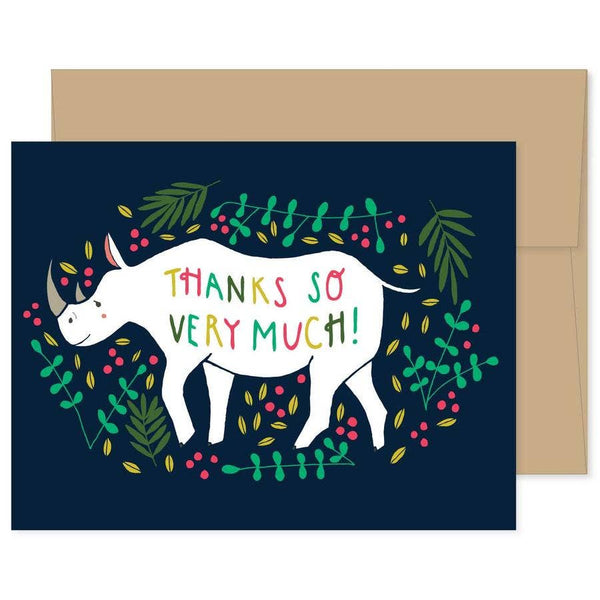 FRIENDLY RHINO THANK YOU CARD