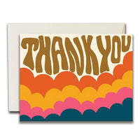 RAINBOW CLOUDS THANK YOU CARD