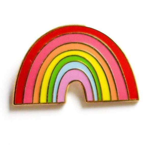 HAPPY RAINBOW ENAMEL PIN