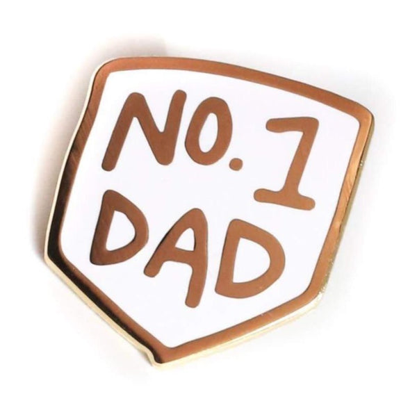 NUMBER ONE DAD ENAMEL PIN