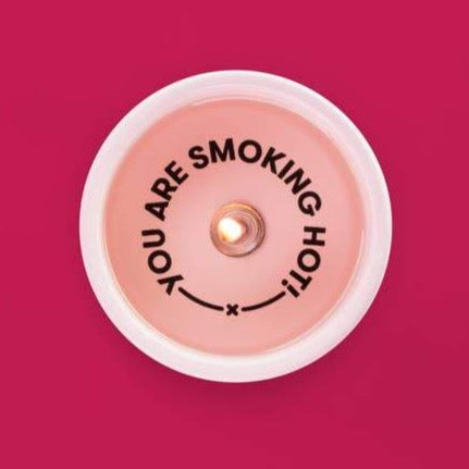 SECRET MESSAGE CANDLE - YOU'RE SMOKIN' HOT!