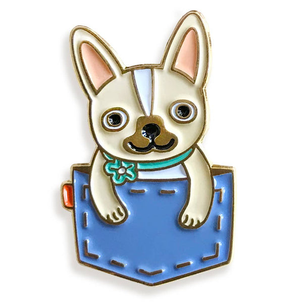 POCKET FRENCHIE ENAMEL PIN