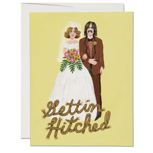 GETTIN HITCHED ENGAGEMENT / WEDDING CARD