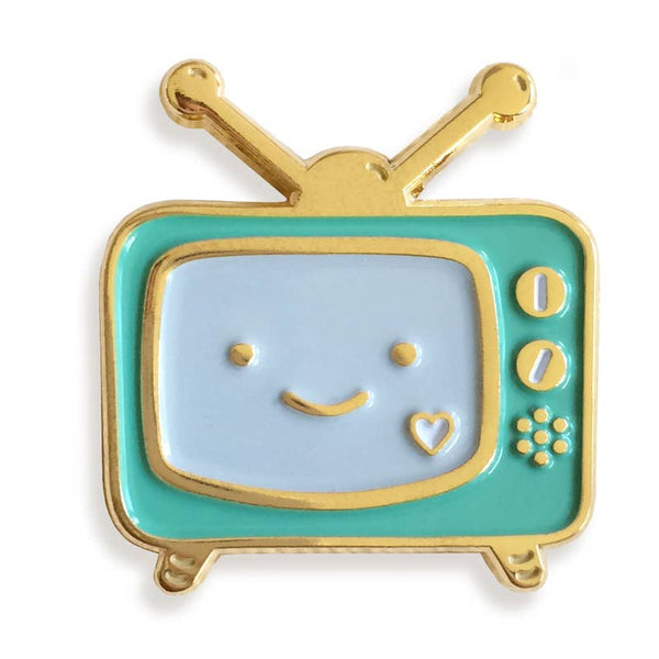 HAPPY TV ENAMEL PIN