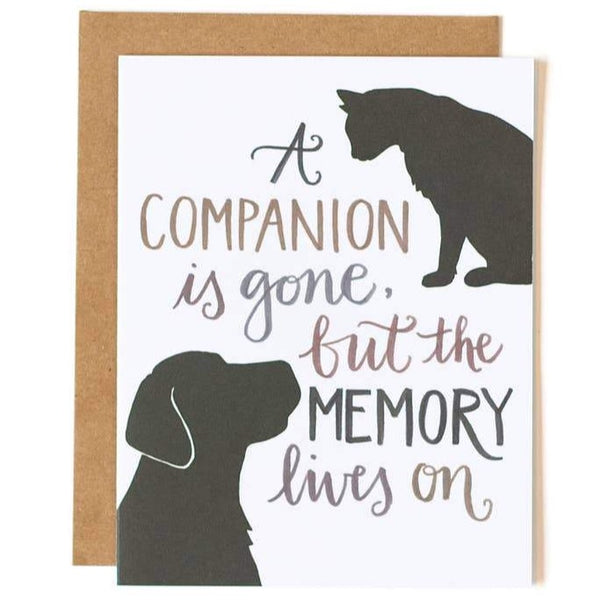 LOSS OF COMPANION SYMPATHY CARD