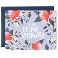 FLORAL WITH DEEPEST SYMPATHY CARD