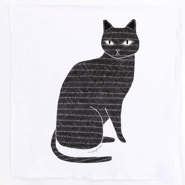 BLACK CAT GINGIBER TEA TOWEL