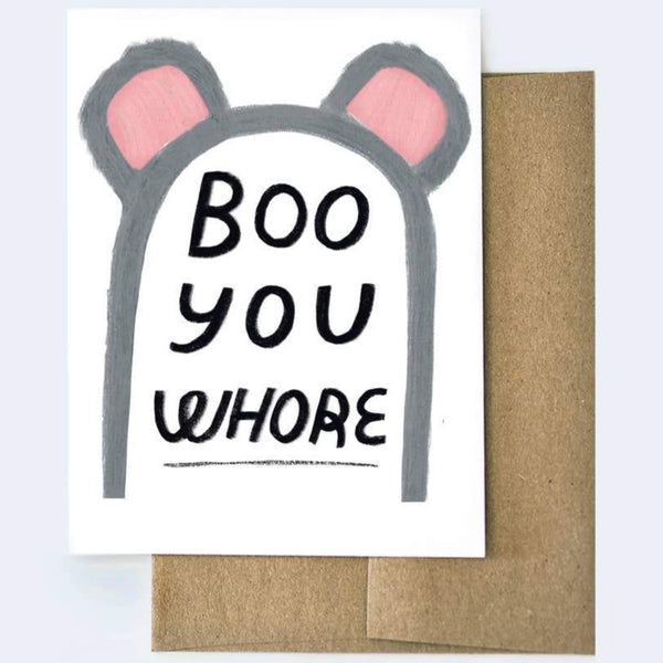 BOO YOU WHORE MEAN GIRLS HALLOWEEN CARD