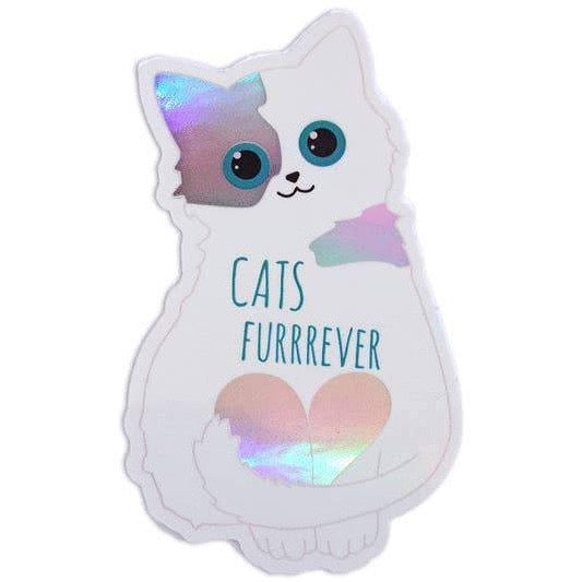 CATS FURRREVER HOLOGRAPHIC STICKER