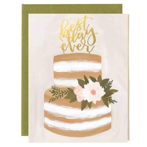 BEST DAY EVER ENGAGEMENT / WEDDING CARD