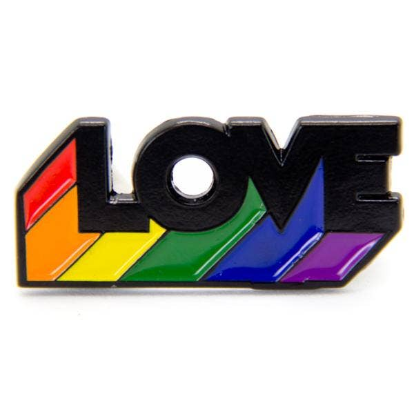 RAINBOW LOVE ENAMEL PIN