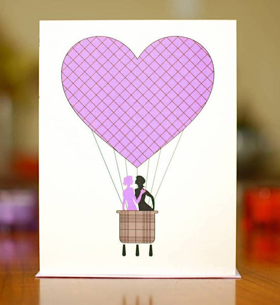 LADIES HOT AIR BALLOON LOVE CARD
