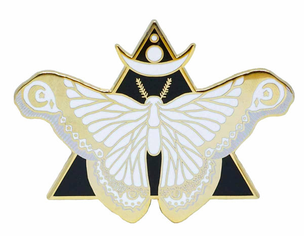 LARGE MOON MOTH ENAMEL PIN