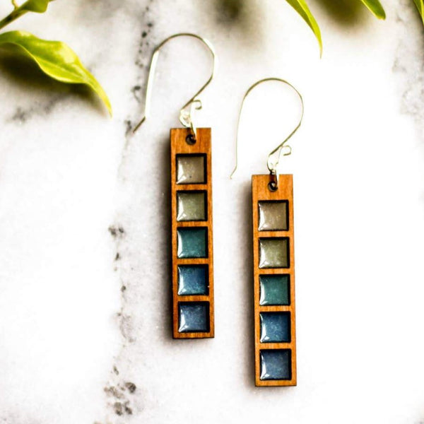 OCEAN CURRENTS SWATCH EARRINGS