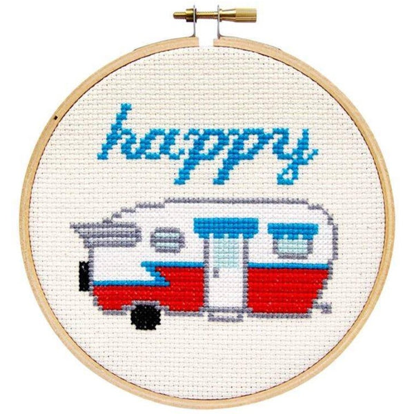 HAPPY CAMPER CROSS-STITCH KIT