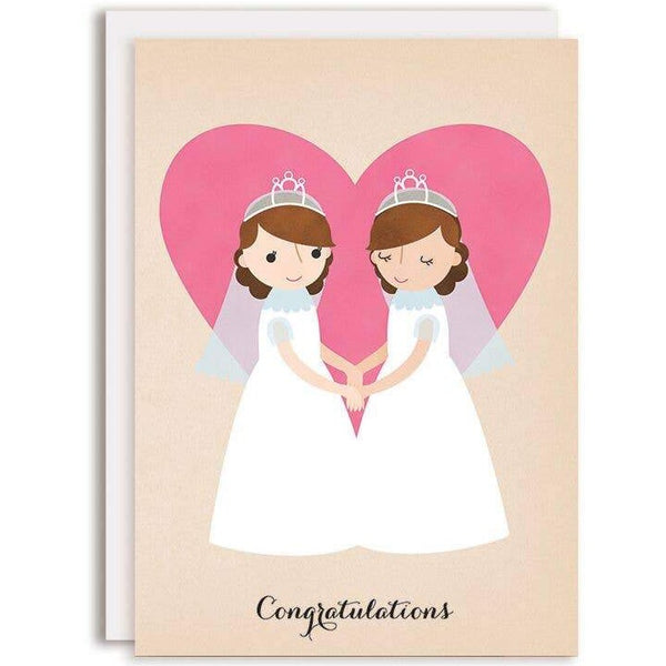 CONGRATULATIONS BRIDES WEDDING CARD