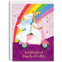 HAPPILY EVER AFTER BRIDES WEDDING CARD
