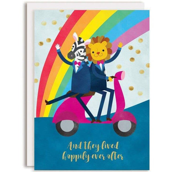 HAPPILY EVER AFTER GROOMS WEDDING CARD