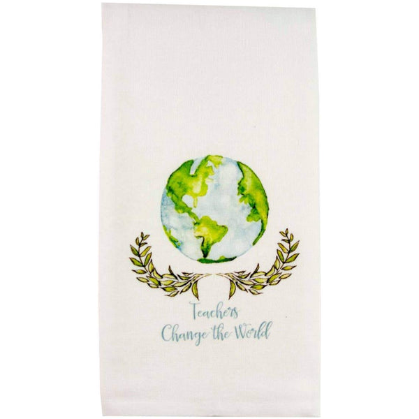 TEACHERS CHANGE THE WORLD TEA TOWEL