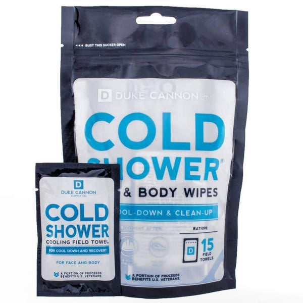 DUKE CANNON COLD SHOWER FACE & BODY WIPES