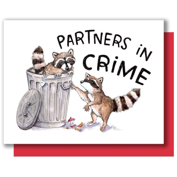 PARTNERS IN CRIME RACCOON CARD