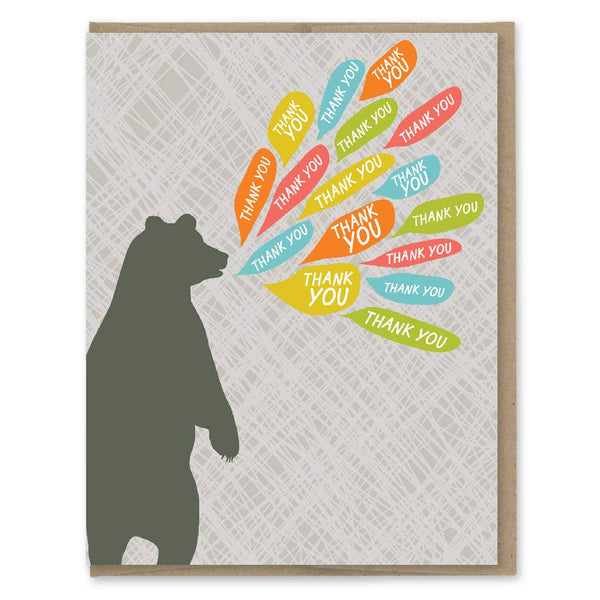 BEAR CAN'T THANK YOU ENOUGH CARD