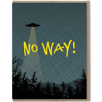 NO WAY! UFO CARD