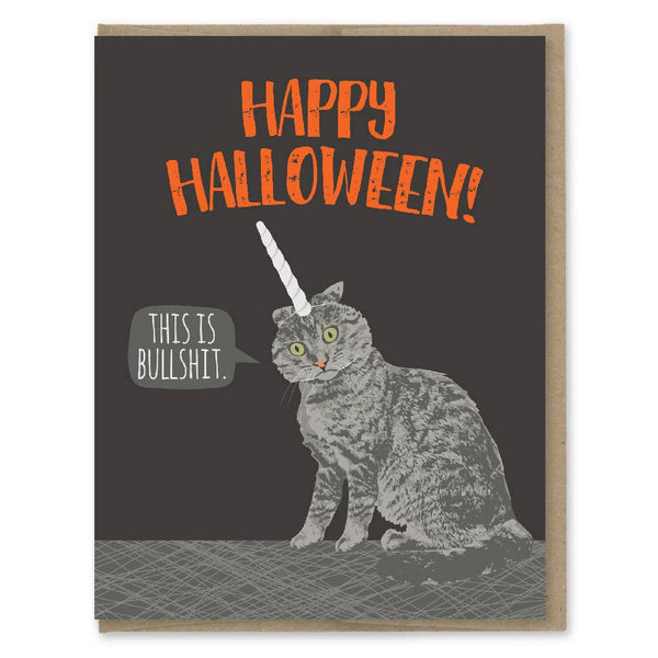 THIS IS BULLSHIT CAT HALLOWEEN CARD