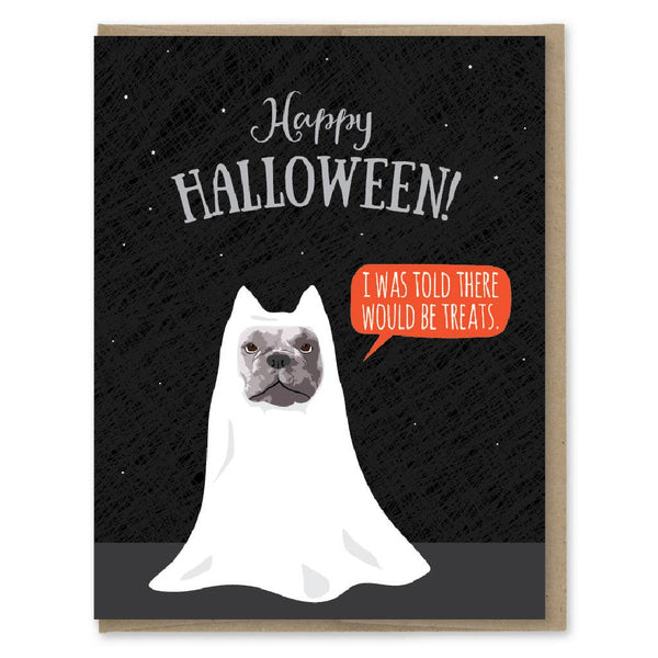 I WAS TOLD THERE WOULD BE TREATS HALLOWEEN CARD