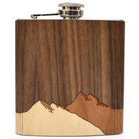 WOOD INLAY FLASK - ROLLING HILLS