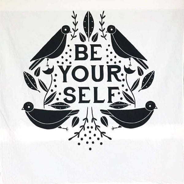 BE YOURSELF GINGIBER TEA TOWEL