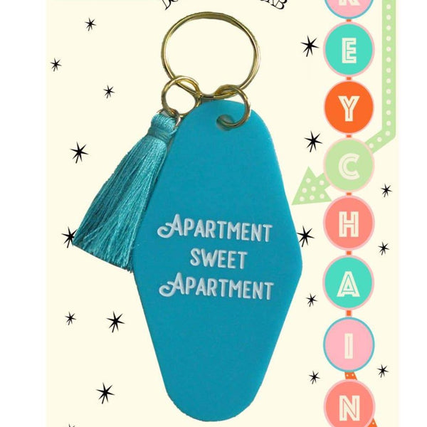 MOTEL TAG KEYCHAIN - APARTMENT SWEET APARTMENT