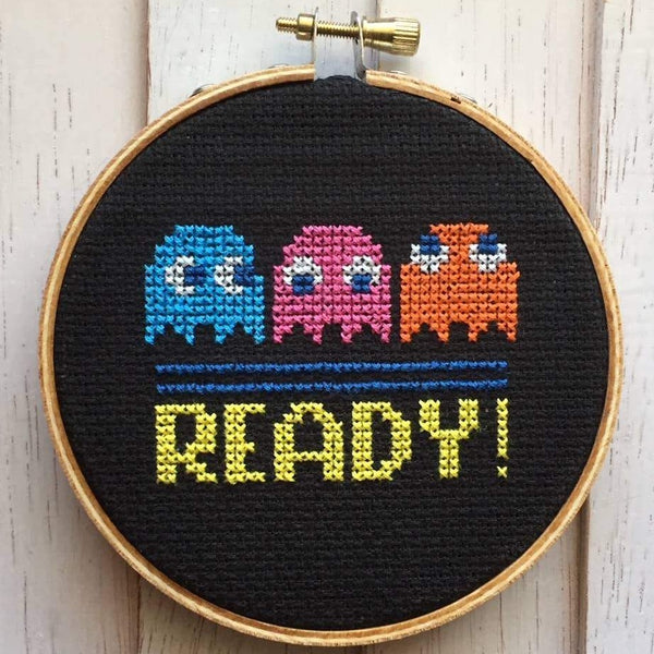 PAC MAN CROSS-STITCH KIT