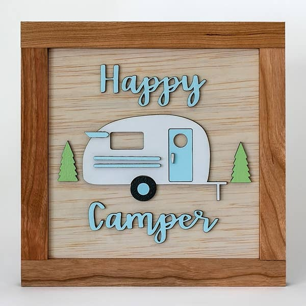 HAPPY CAMPER WOOD SIGN
