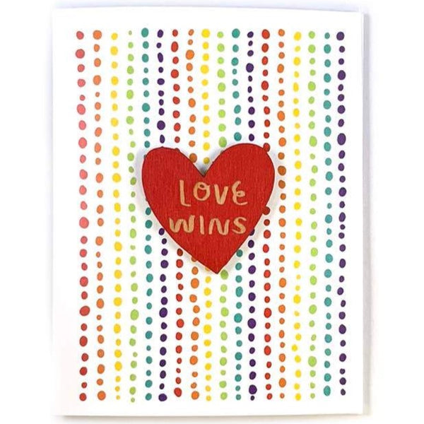 LOVE WINS CARD WITH MAGNET