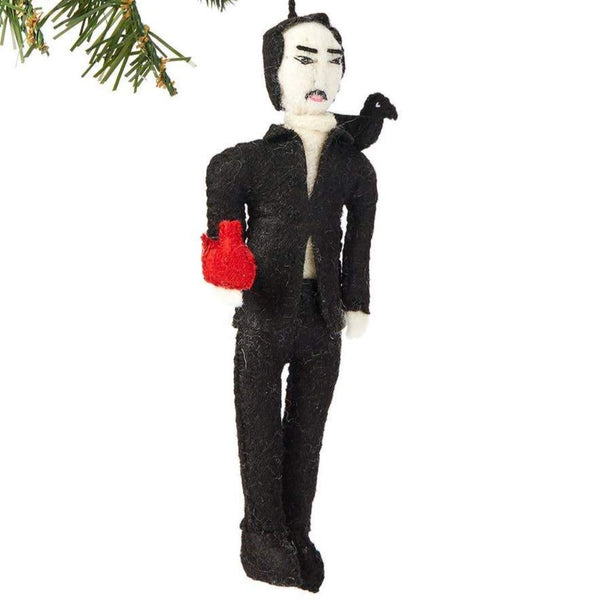 FELT ORNAMENT - EDGAR ALLAN POE