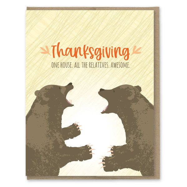 ALL THE RELATIVES THANKSGIVING CARD