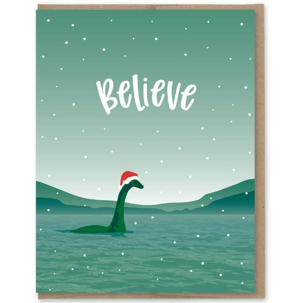 NESSIE BELIEVE HOLIDAY CARD
