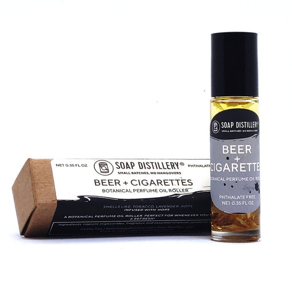 SOAP DISTILLERY BEER & CIGARETTES BOTANICAL PERFUME ROLLER