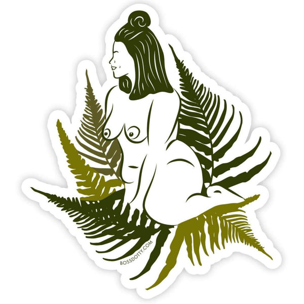 NAKED PLANT LADY STICKER