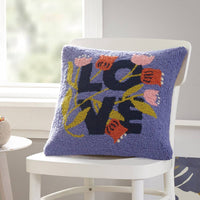 LOVE IS LOVE FLORAL WOOL HOOKED PILLOW