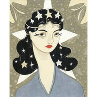 STARRY WOMAN SIGNED PRINT